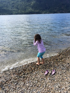 We stopped at Mara Lake cause Sophia saw the beautiful water and immediately wanted to get out and walk in the water